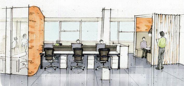 BrickMansion Interiors Office